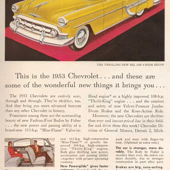 1953 - Chevrolet Bel-Air Advertisement - Advertising