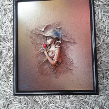 Strange? Scary? 4d framed oil on canvas?