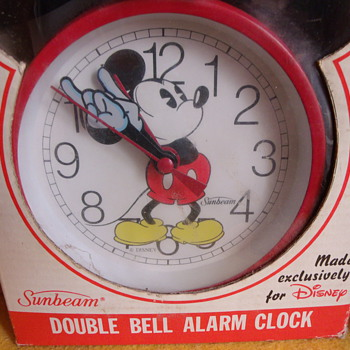 Sunbeam Twin Bell Mickey Mouse Alarm Clock - Clocks