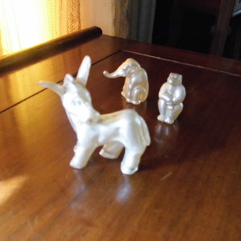 My 50s pearl coated glass animals - Figurines