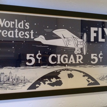 "Original Lithograph ""World's Greatest"" Flyer Cigar ad - Advertising"