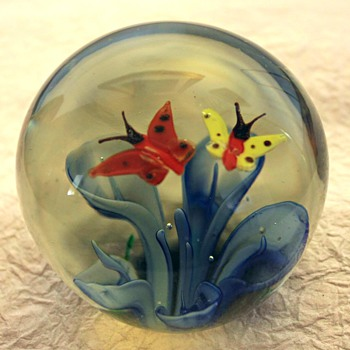 Glass Paperweight - Art Glass