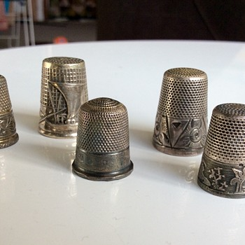 Silver thimbles - Sterling Silver