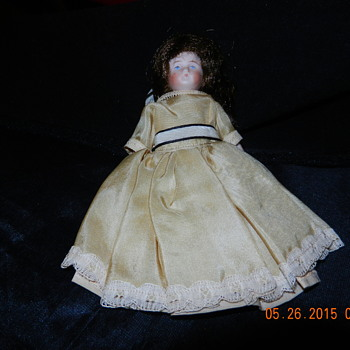 "Antique Doll Identification Help 5 1/2"" Blue Stamp on Back German?"