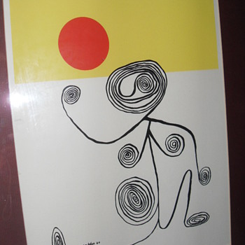 AN ORIGINAL LITHOGRAPH SIGNED CALDER 44 - Posters and Prints