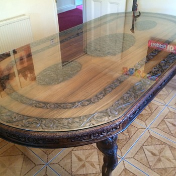 Carved dining table - Furniture