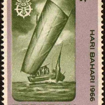 "1966 - Indonesia ""Maritime Day"" Postage Stamps"