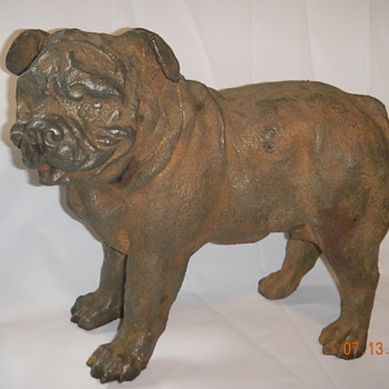 Cast iron Old English Bulldogge