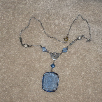 Blue necklace - Costume Jewelry