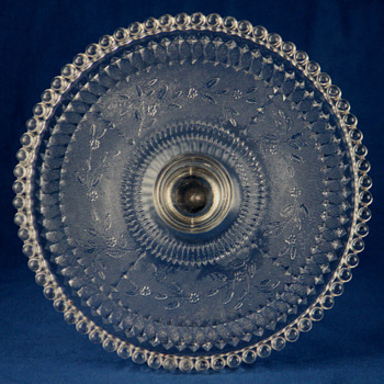 Dot cake stand by Findlay Flint Glass C0. c1890