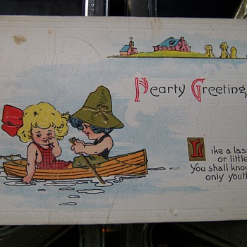 Greeting Card Postmarked March 1916 - Paper