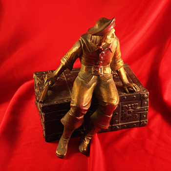 1925 J. B. Hirsch Pirate Seated on a Treasure Chest - Art Deco