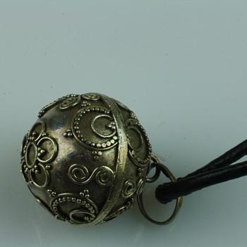 Silver chime/bola pendant
