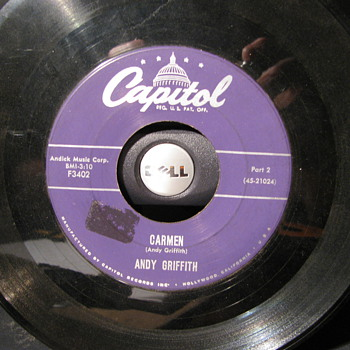 Andy Griffith 45s - Records