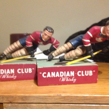 Canadian Club whiskey bar statues - Breweriana