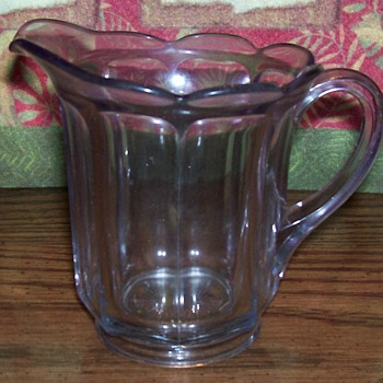 Cut Glass Creamer - Glassware