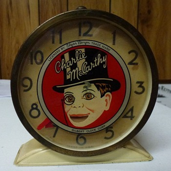 Animated Charlie McCarthy Alarm Clock - Clocks