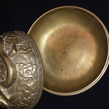My brass bowl that my late uncle originally owned - Asian