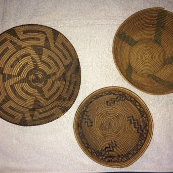 3 woven bowls