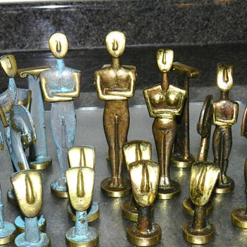 Brass/Verdigris Chess Set - Games