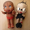VINTAGE CLOTH BETTY BOOP DOLL & FRIEND 1930's
