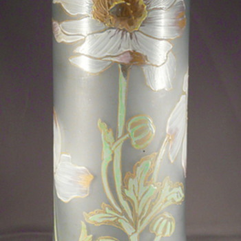 My second very nice unmarked Montjoie or Legras enameled glass vase. ?