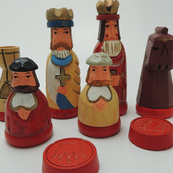 Carved Chess & Checkers Set  - Games