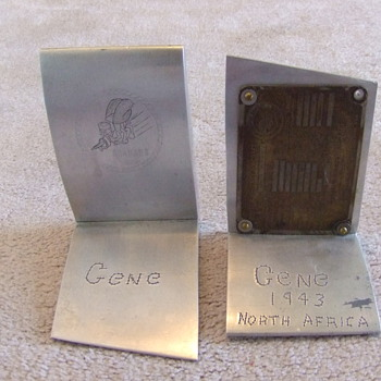 WW2 Trench Art Propeller bookends - Military and Wartime