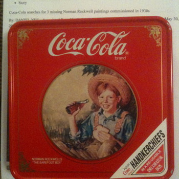 Cocal cola handkerchief tin  - Coca-Cola