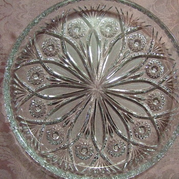 Very heavy and large serving platter.  A beautiful pattern and very nice finished piece. - Glassware