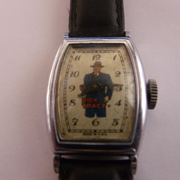 "1948 New Haven Dick Tracy Standard ""Tonneau"" Wrist Watch - Wristwatches"