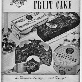 1950 - Martha Ann Fruitcakes Advertisement - Advertising