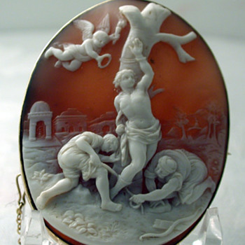 Shell cameo of St Sebastian 