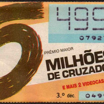 1989 - Brazilian Lottery Ticket