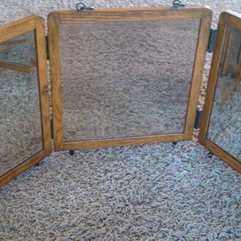Antique Folding Shaving Mirror