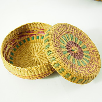 Antique Basket- What can this be? - Folk Art