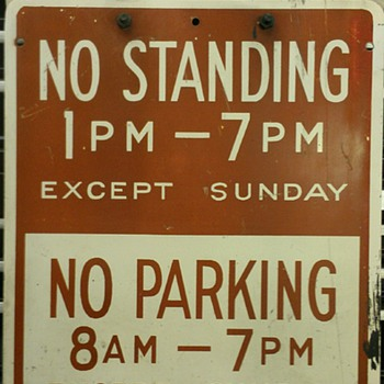 early Tow away/no parking signs - Signs