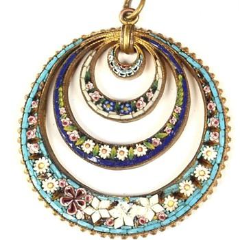 Rare Micro Mosaic pendant - Fine Jewelry
