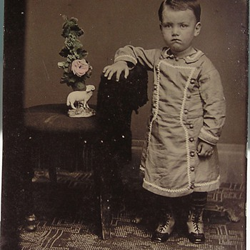 Ceramic Figurine displayed in tintype