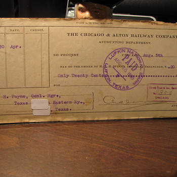 Old Railroad Checks - Railroadiana