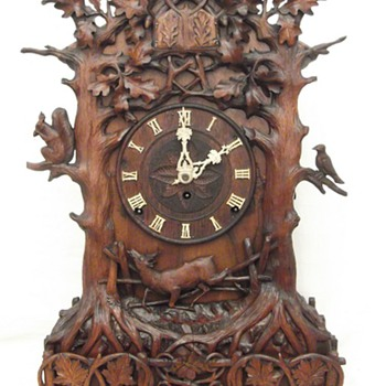 Very rare,  Beha #552 quail table cuckoo clock,  Triple fusee 8 day Ca.1865  - Clocks
