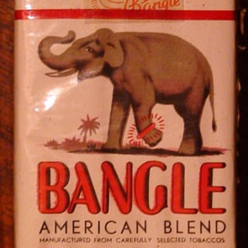 Bangle Cigarettes Vintage Full Pack - Tobacciana