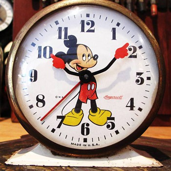 1947 Mickey Mouse Alarm Clock - Clocks