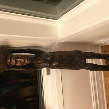 Large wooden carving