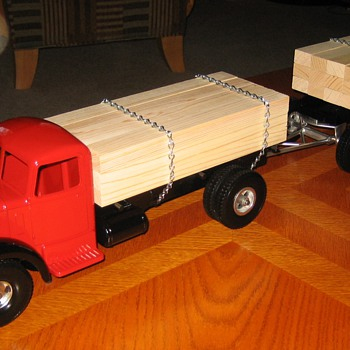 Freshly-Restored Smith-Miller Lumber Truck and Pup Trailer