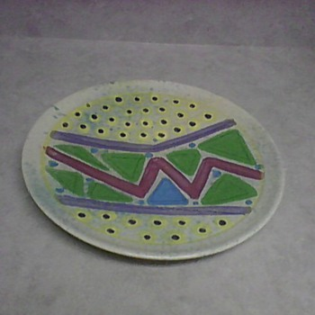 SIGNED STONEWARE PLATE