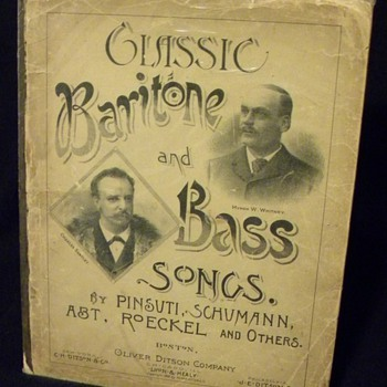 """Classic Baritone and Bass Songs"" - 1888 - Music"