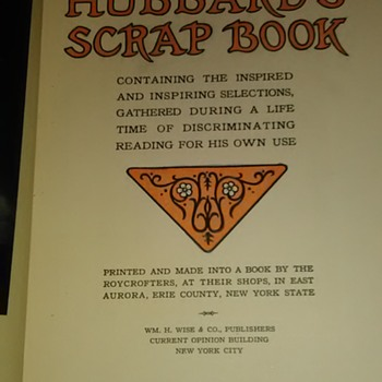 Elbert Hubbard's Scrap Book Roycroft 1923  - Books