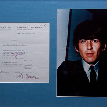 George Harrison signed receipt-1966 - Music