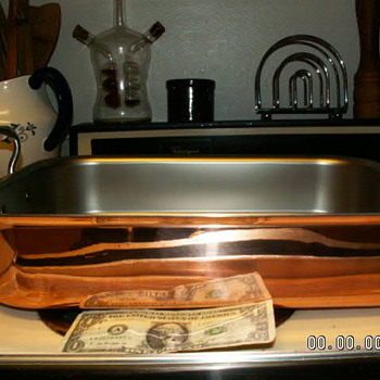 "Mauviel 1830 LARGE Copper Roasting Pan 2.5mm 11"" X 16.5"" X 3.3"" ~Cast Stainless Steel Handles - Kitchen"